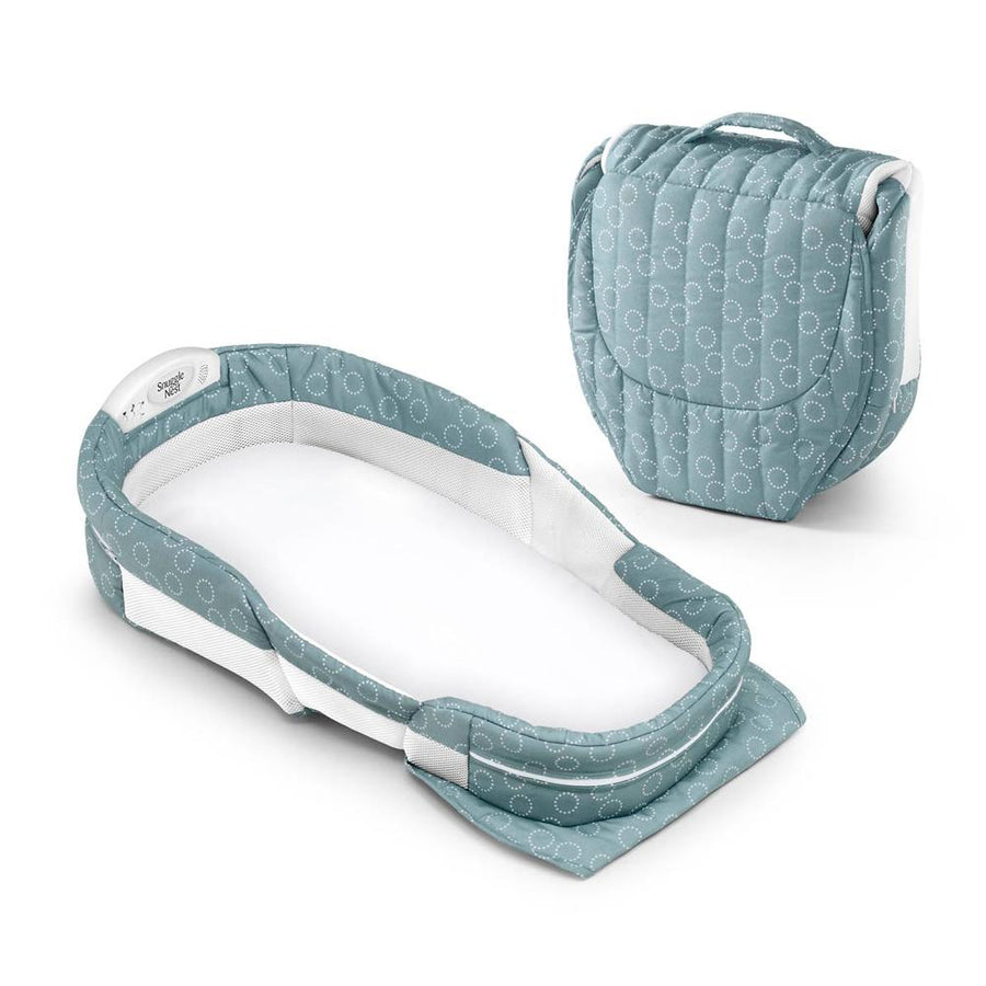 Baby Delight Snuggle Nest Surround XL Infant Sleeper – Sea Green Rings