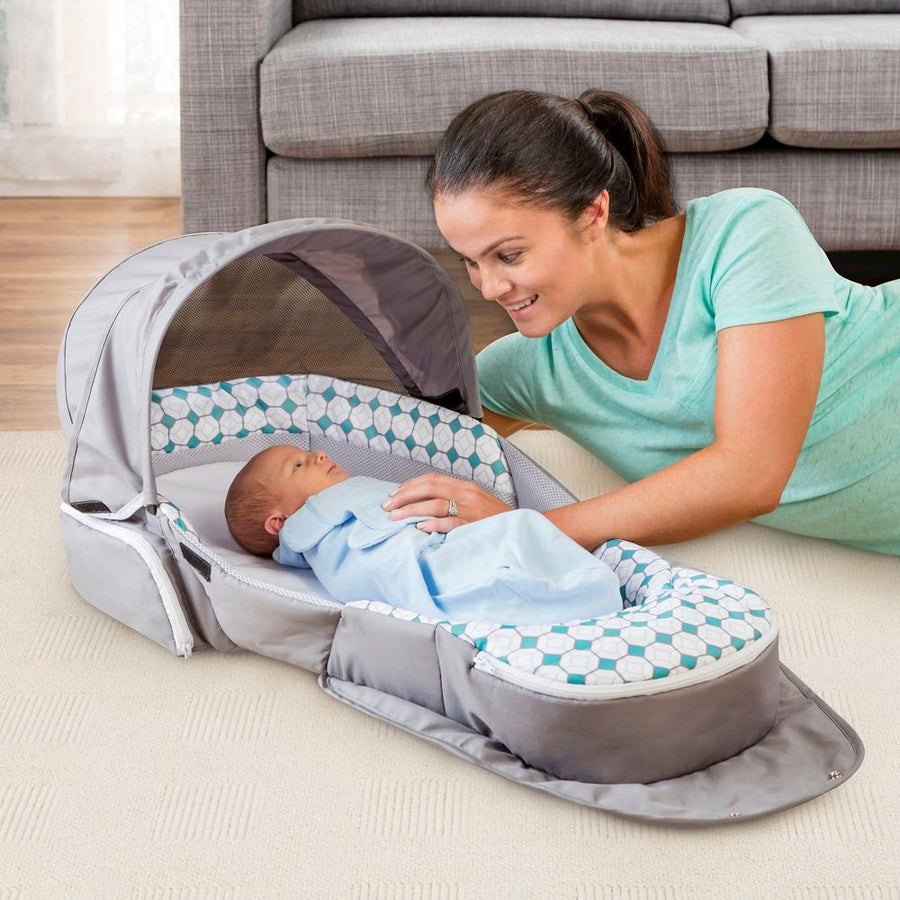 Baby Delight Snuggle Nest Traveler Diamond Lattice