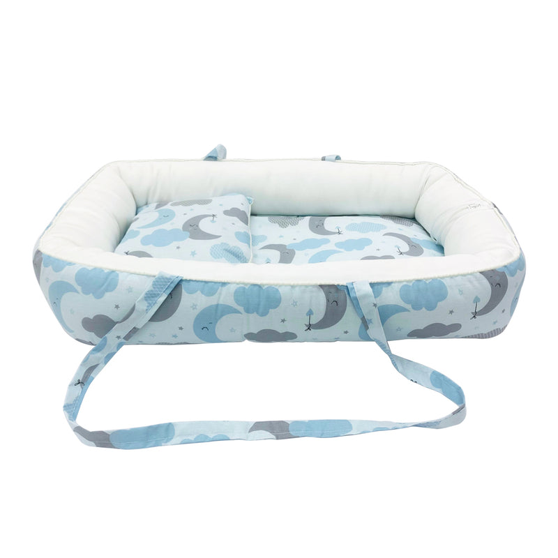 Baby Nest Portable Cocoon Lounger, Blue World