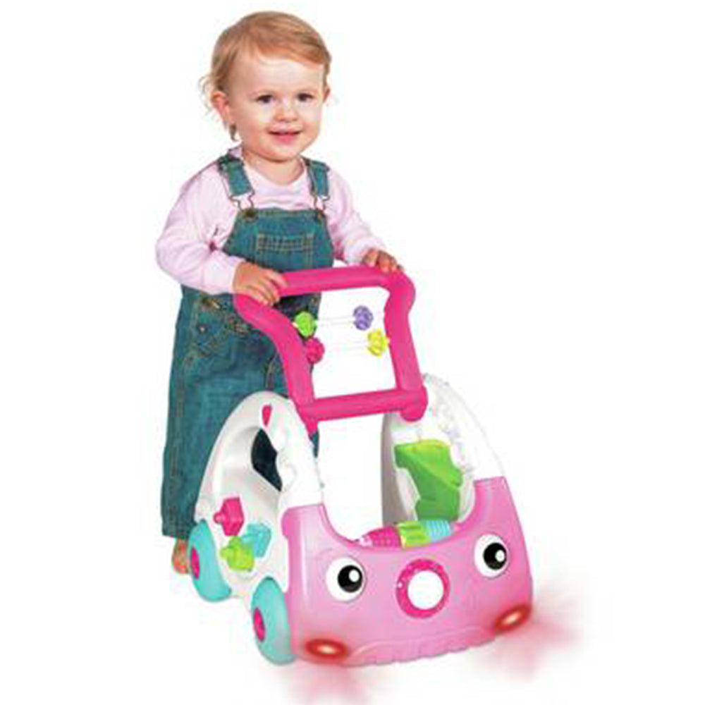 Yaya Duck Baby Walker 3 in 1 Discovery Car, Pink