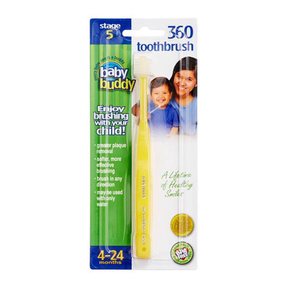Baby Buddy Brilliant Baby Toothbrush, Yellow