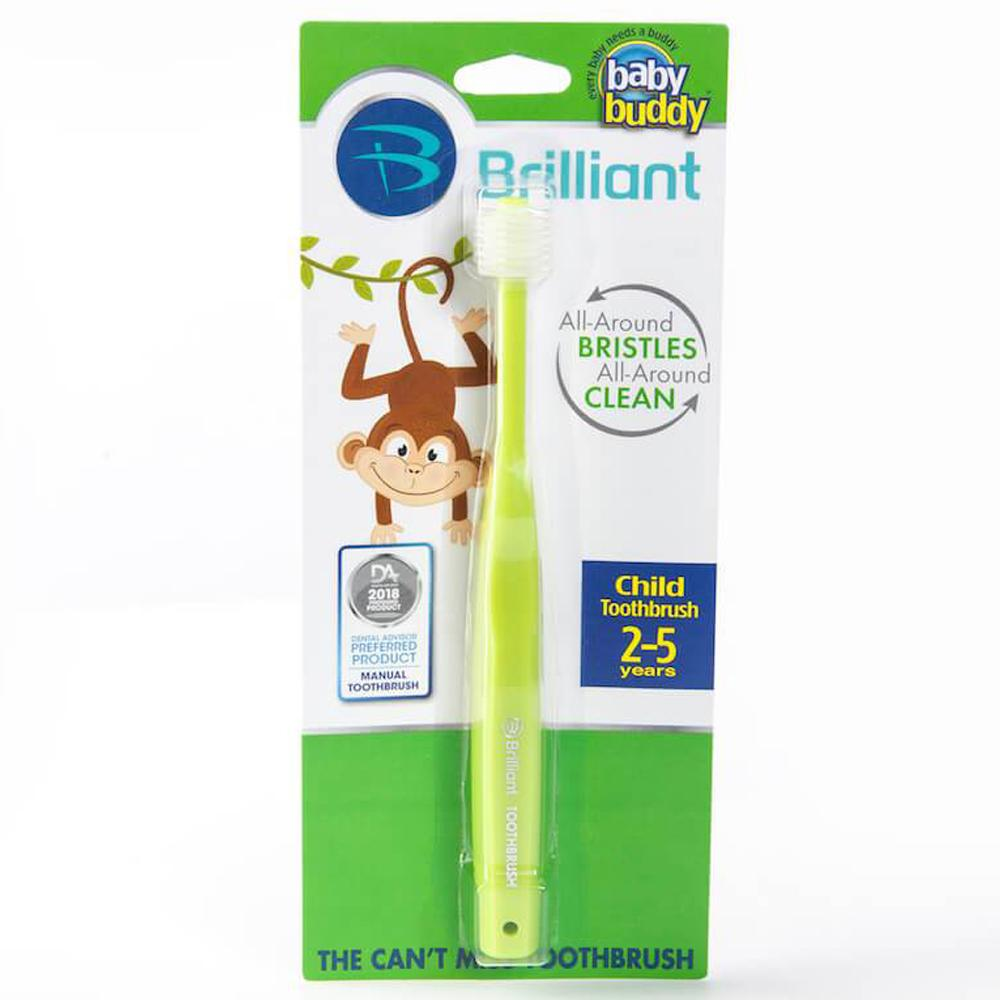 Baby Buddy Brilliant Child Toothbrush, Lime