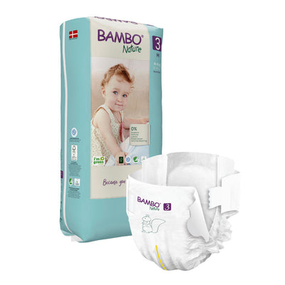 Bambo Nature SIZE 3 Tall - 52 Diapers