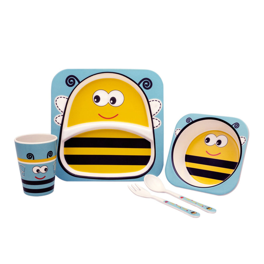 Bamboo Fiber Tableware Set - Bee