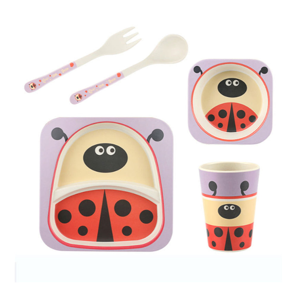 Bamboo Fiber Tableware Set - Beetle