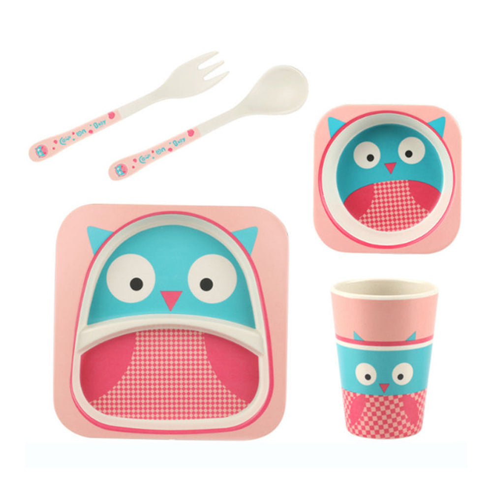 Bamboo Fiber Tableware Set - Bird