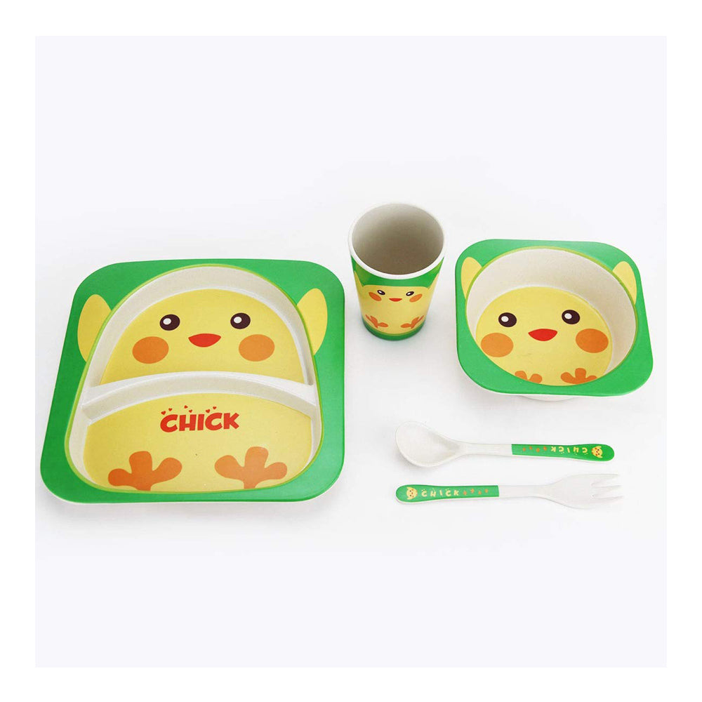 Bamboo Fiber Tableware Set - Chick