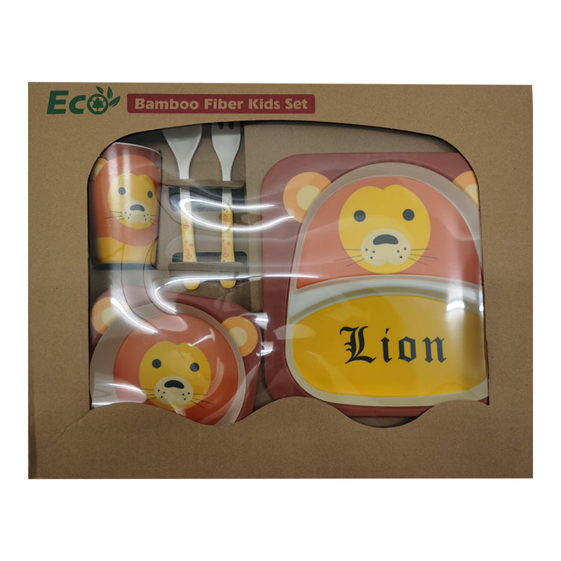 Bamboo Fiber Tableware Set - Lion