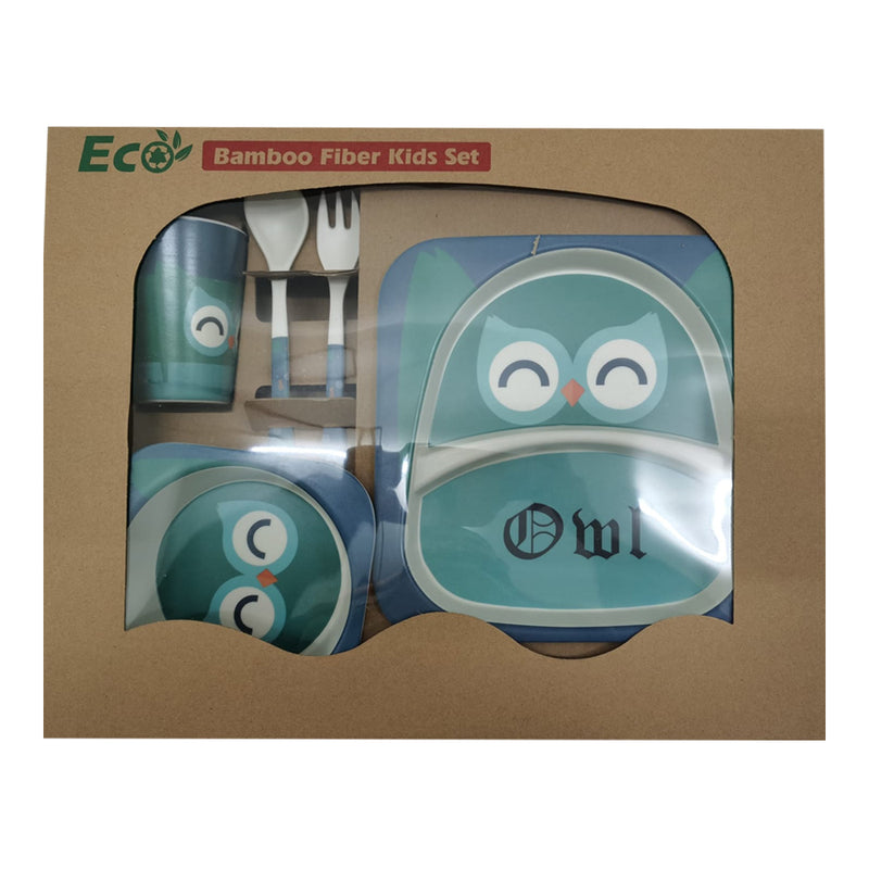 Bamboo Fiber Tableware Set - Owl