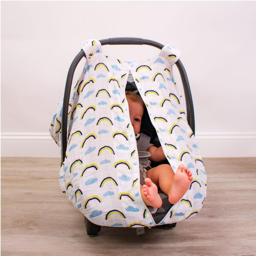Bebe Au Lait Rainbow Car Seat Cover