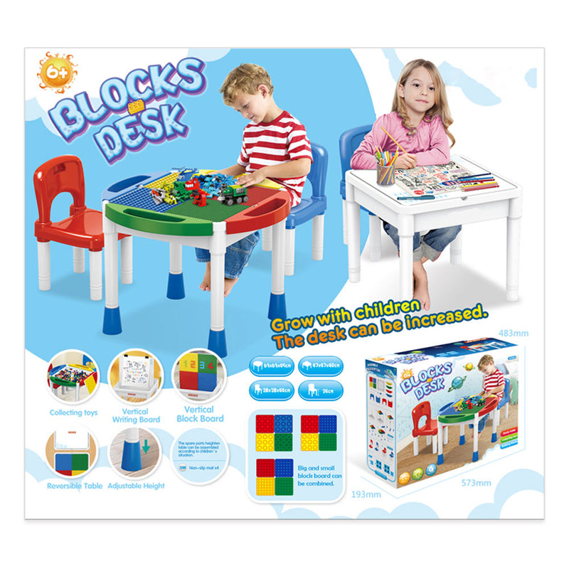 Multifunctional Kid's building block tables and chairs