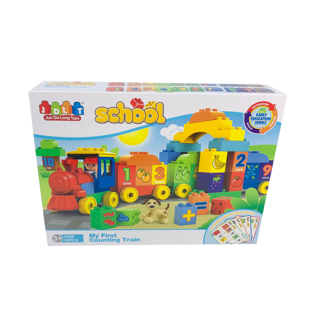 Blocks Game - Numbers Train 65pcs (Big)