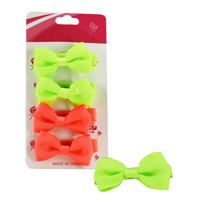 Bowknot Hair Clip Assorted Colors - 4 pieces