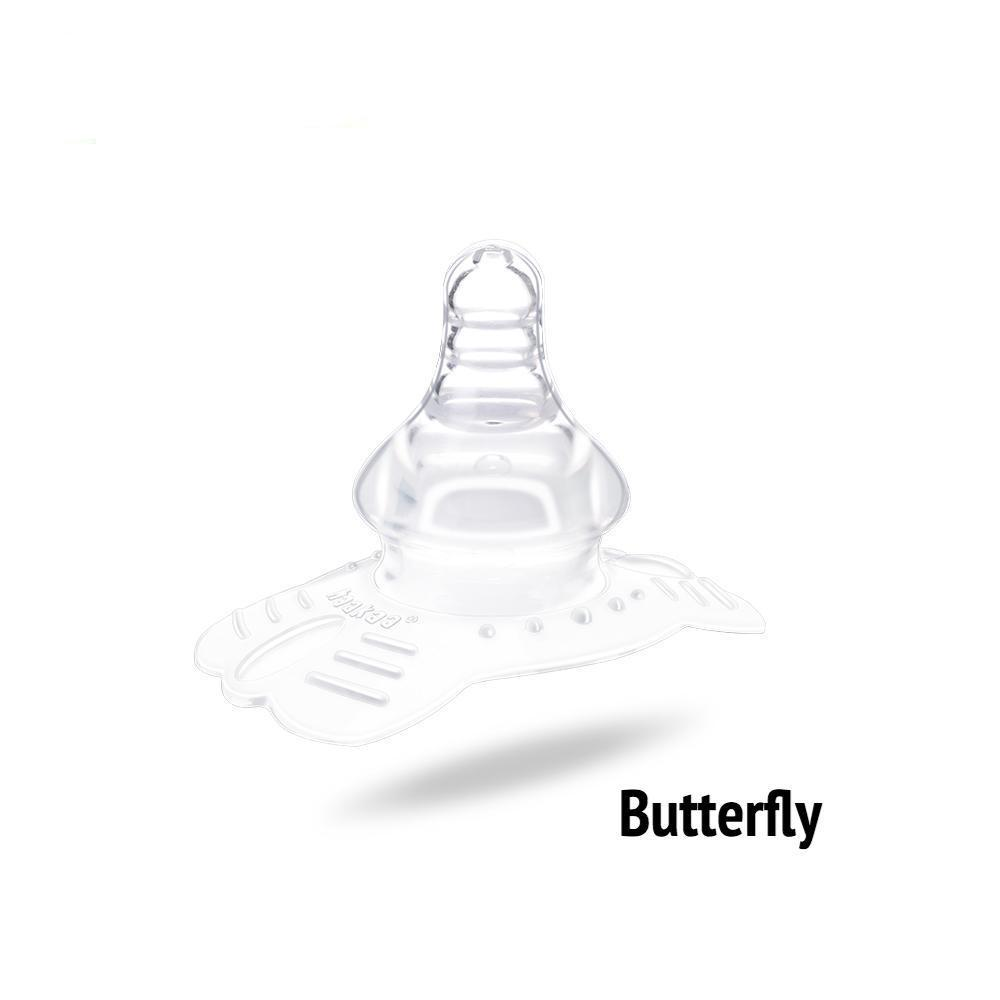 Haakaa Breast Feeding Nipple Shield, Butterfly Shape