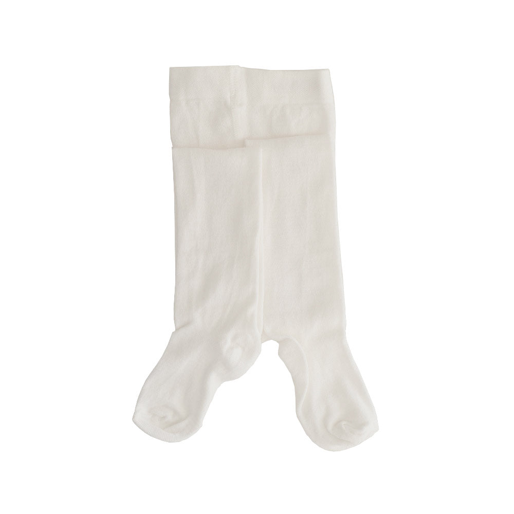 Bross Baby Bamboo Cotton White Tights, 1 Pair