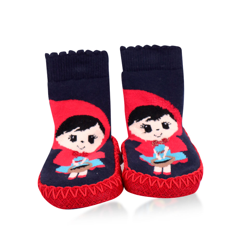 Bross Socks Non-Slip Shoes Red Riding Hood, 1 Pair