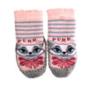 Bross Socks Non-Slip Shoes Purr cat, 1 Pair