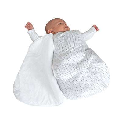 Candide Birth & Winter Comforter Wrap - White and Stars