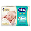Chicco Diaper Ultra Newborn 27 Pieces (2-5 KG)