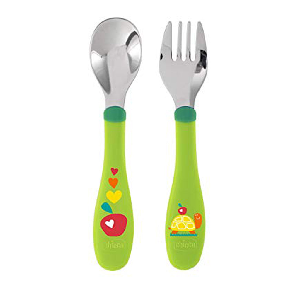 Chicco Metal Cutlery 18 months + Neutral