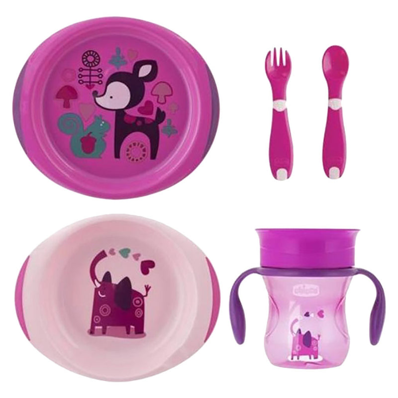 Chicco Weaning Set Pink, 12 months+