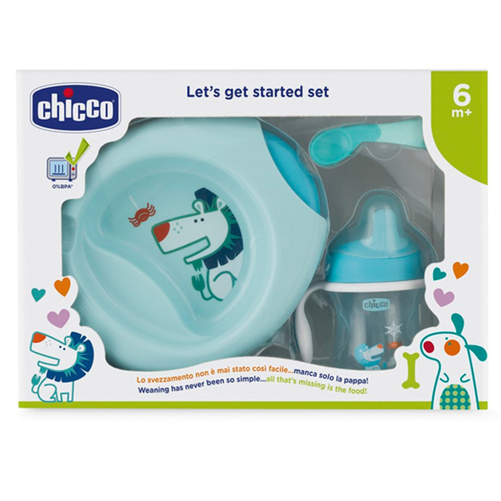 Chicco Weaning Set Blue, 6 months+