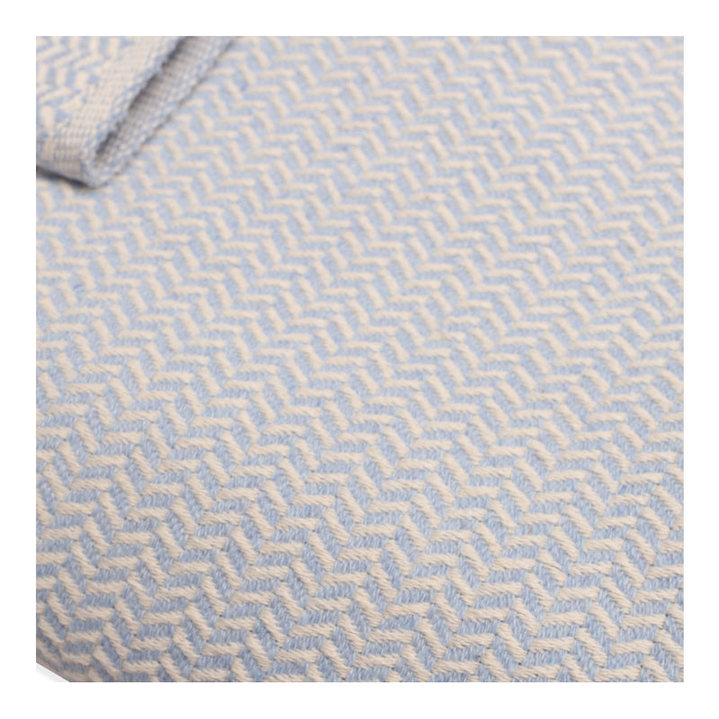 CIGIT STRAW PATTERNED BLANKET FOR BABIES 93X100CM - BLUE