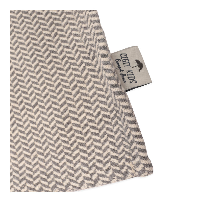 CIGIT STRAW PATTERNED BLANKET FOR BABIES 93X100CM - SMOKE