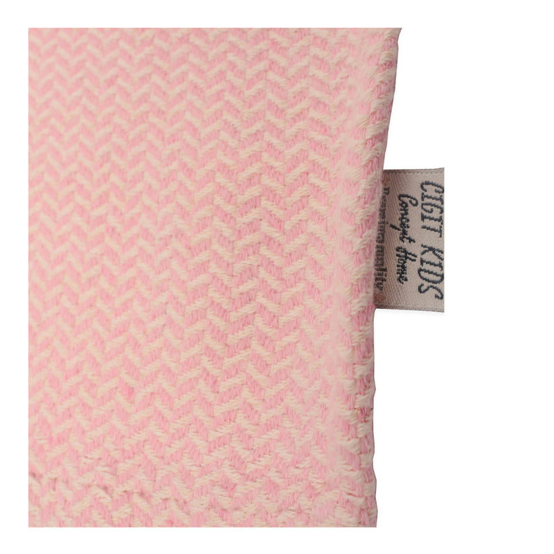 CIGIT STRAW PATTERNED BLANKET FOR BABIES 93X100CM - PINK