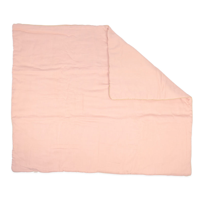 CIGIT DOUBLE FACE COLORED QUILT FOR BABIES 100X120CM - PINK
