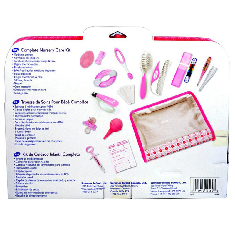 Summer Infant Complete Nursery Care Kit 21 Piece - Pink