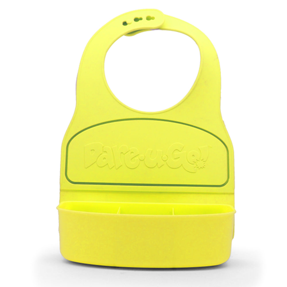 Dare-U-Go One-Piece Bib & Baby Plate - Large - Yellow