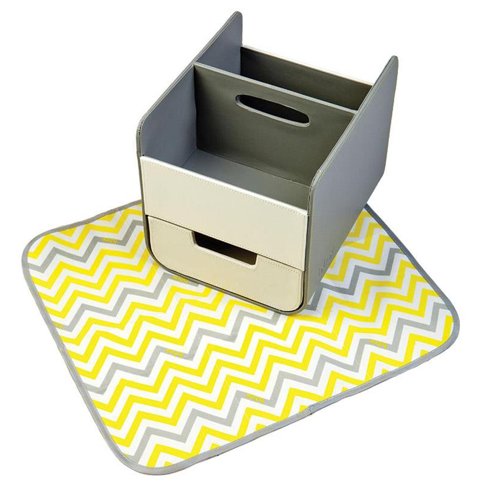 B.Box Diaper Caddy with Changing Mat - Mellow Lellow