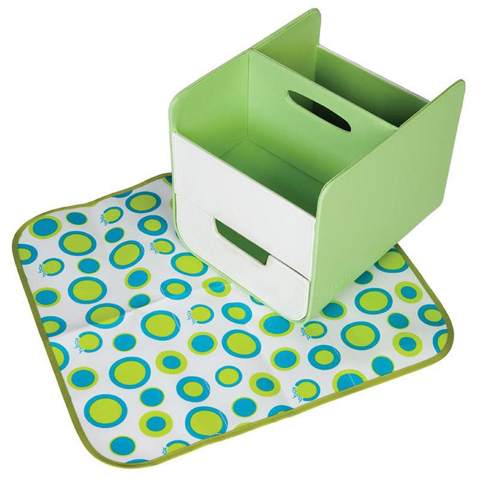 B.Box Diaper Caddy with Changing Mat - Retro Chic
