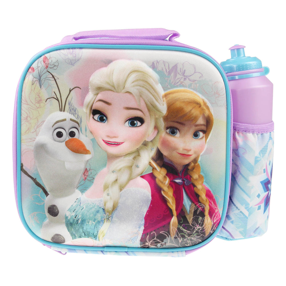 Disney Frozen 'Elsa Anna and Olaf' 3D Lunch Bag with Bottle