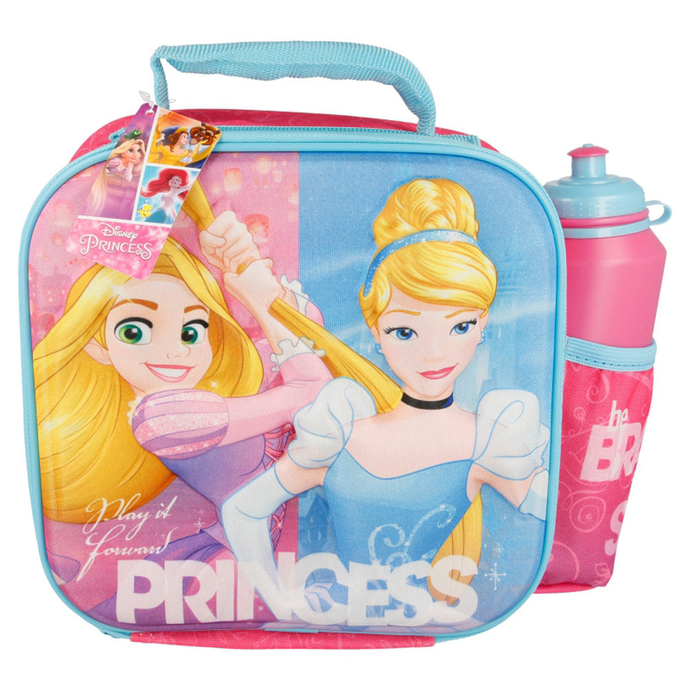 Disney Princess 3D Thermal Lunch Bag with Bottle