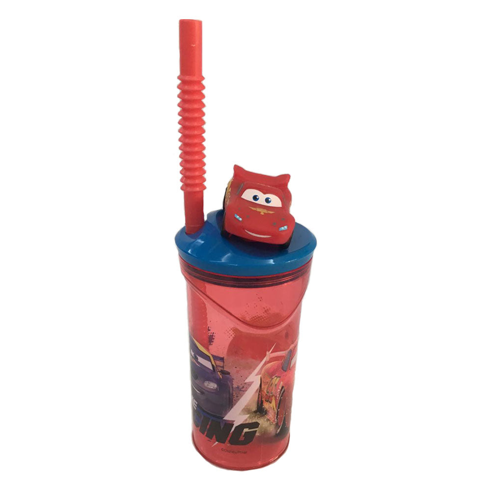 Disney Cars '3D Head' Bottle With Straw Tumbler, 360Ml