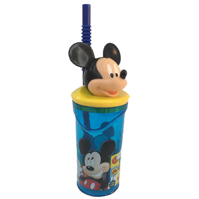 Disney Mickey '3D Head' Bottle With Straw Tumbler, 360Ml