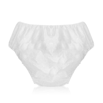 Disposable White Underwear Brief, 6 pieces Per Pack