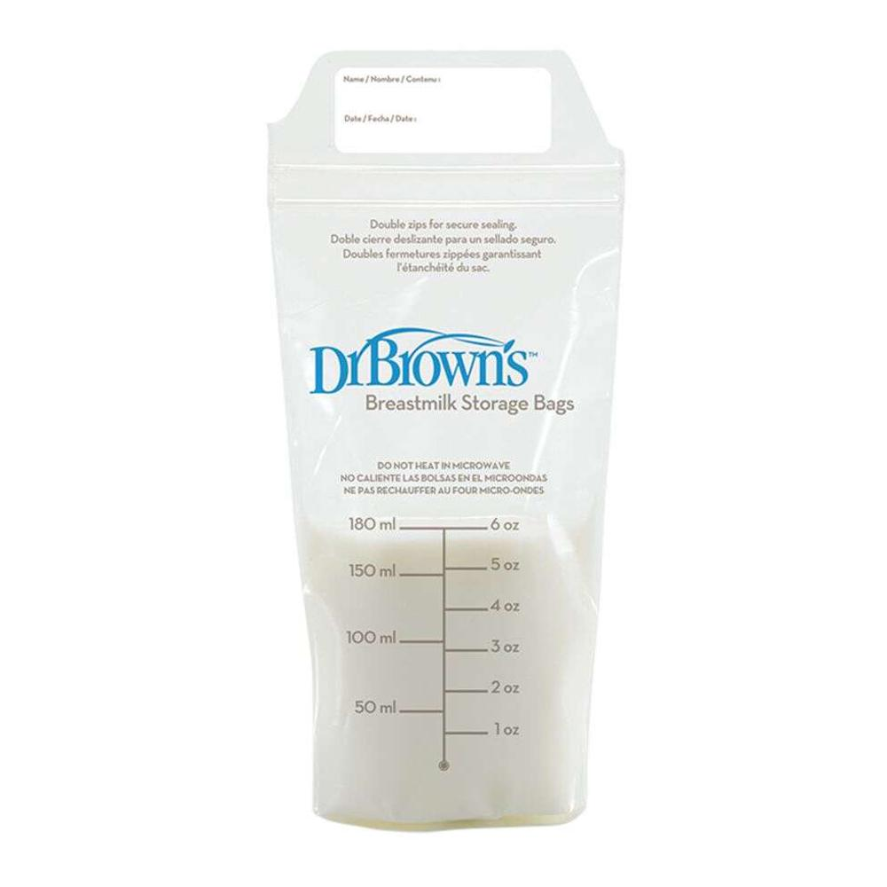 Dr Brown's Breastmilk Storage Bag 6 oz / 180 ml, Pack of 25
