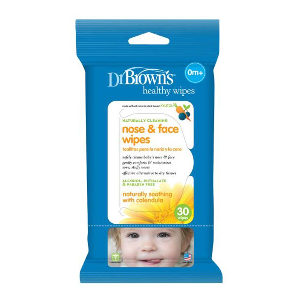 Dr Brown's Nose & Face Wipes, 30 Wipes