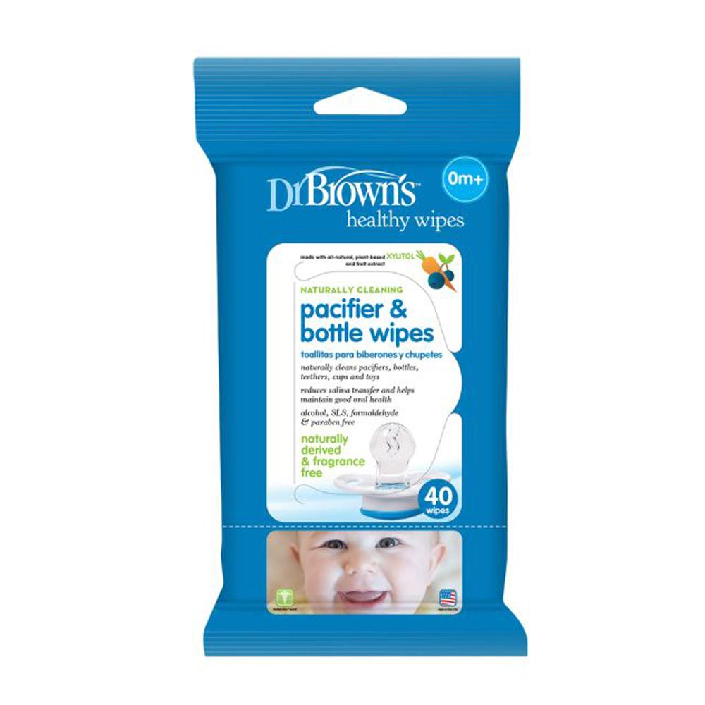 Dr Brown's Pacifier & Bottle Wipes, 40 Wipes