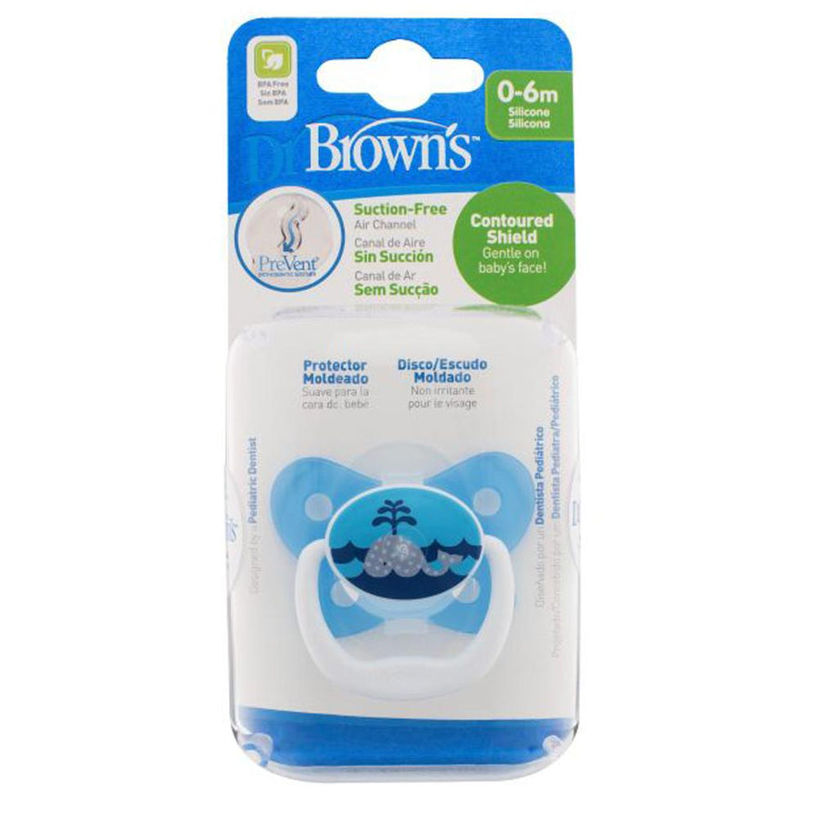 Dr Brown PreVent Butterfly Pacifier Stage 1 Blue, 0-6 Months, Pack of 1