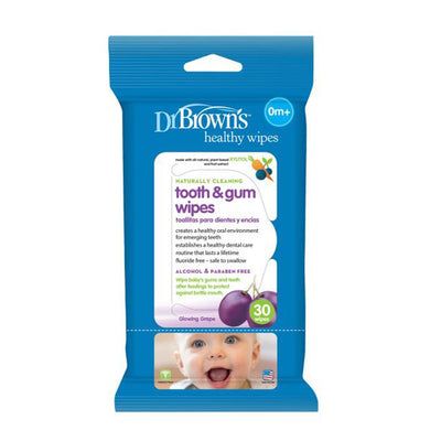 Dr Brown's Tooth & Gum Wipes, 30 Wipes