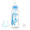 "Dr  Brown's 8 oz / 250 ml PP Narrow-Neck ""Options"" Transition Bottle with Sippy Spout - Blue, 1-Pack"