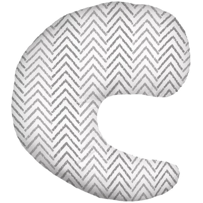 Dr Brown's Gia Pillow And Cover Gray Chevron