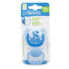 Dr Brown's Ortho CLASSIC SHIELD Pacifier - Stage 1 * 0-6M - Blue, 2-Pack