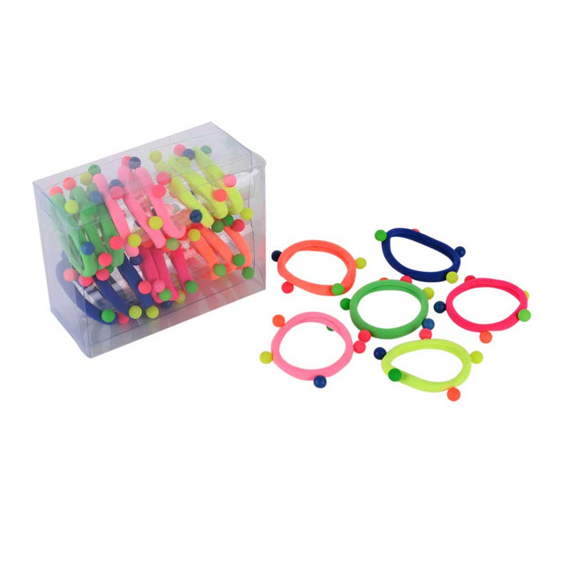 Neon Puff Ball Hair Ties