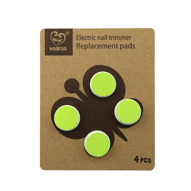 Haakaa Electric Nail Trimmer Replacement Pads - Medium Hard GREEN