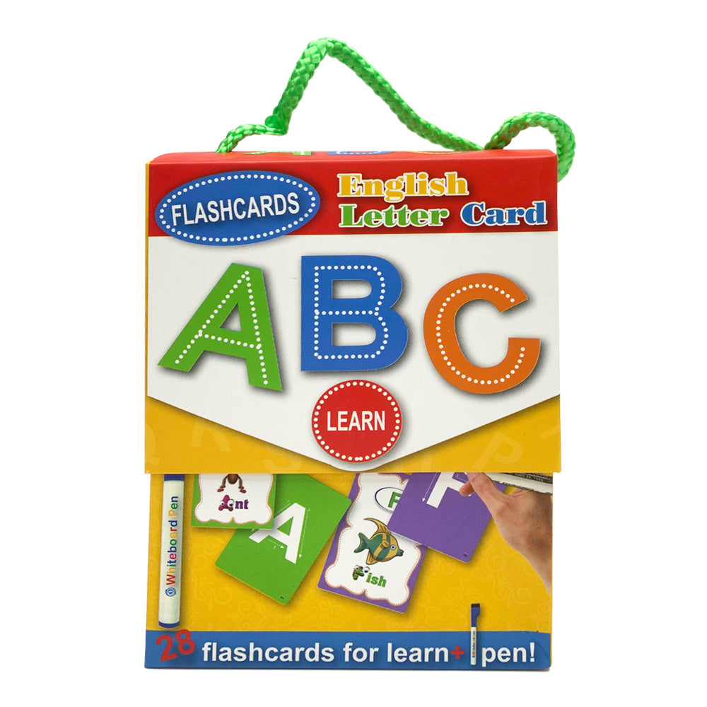 English Letters wipe and write Flash Card
